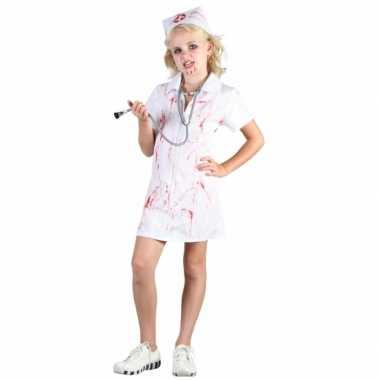 Verpleegster halloween bloederig zuster kostuum voor meisjes carnaval