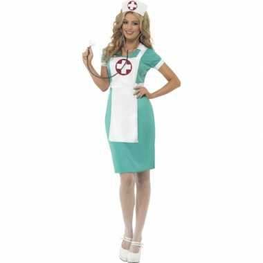 Verpleegster voordelige zuster jurk met schort carnaval